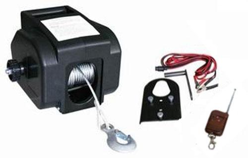 Verricello argano paranco elettrico 12v 2000 lbs con for Paranco elettrico telecomando senza fili